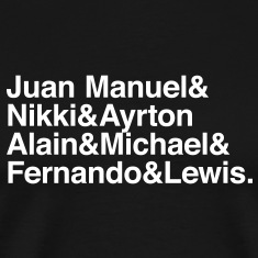 formula 1 legends T-Shirts