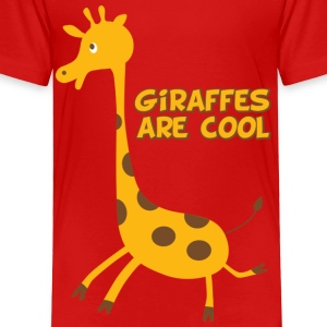 giraffes are cool - Toddler Premium T-Shirt