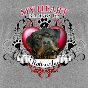 My Heart Belongs to a Rottweiler Women's T-Shirts - Women's Premium T-Shirt