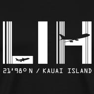 Design ~ Kauai Island, Lihue (LIH) Airport code Black T-shirt