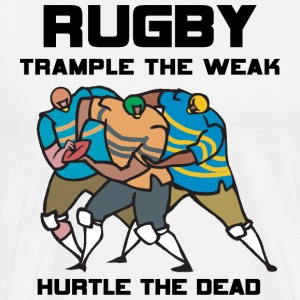 Rugby Trample The Weak T-Shirt - Men's Premium T-Shirt