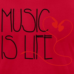 Music is Life T-Shirts - Men's T-Shirt by American Apparel