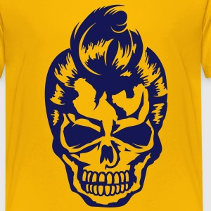 A skull with a 50s haircut Kids' Shirts - Kids' Premium T-Shirt