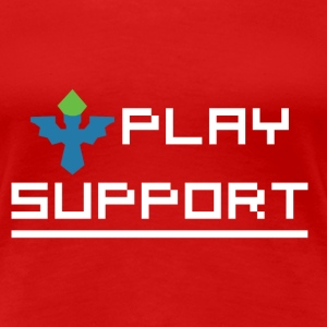 I Play Support Women's T-Shirts - Women's Premium T-Shirt