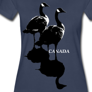 Design ~ Canada Goose Souvenir T-shirt Women's Plus Size Shirt