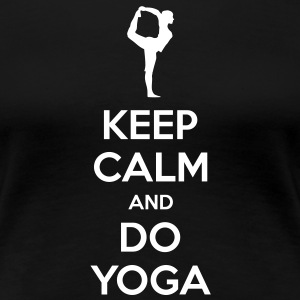 Keep Calm and do Yoga Women's T-shirt - Women's Premium T-Shirt