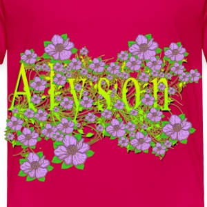 Alyson Floral Lavender Flowers yellow Gold Baby & Toddler Shirts - Toddler Premium T-Shirt
