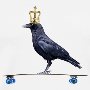 Crow with Crown on Longboard T-Shirts - Men's Premium T-Shirt