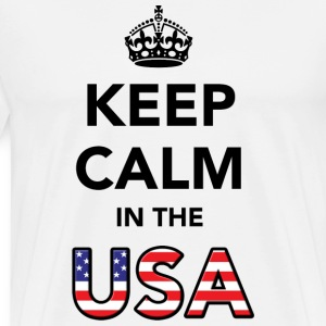 Keep Calm in the USA T-Shirts - Men's Premium T-Shirt