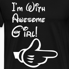 i'm with awesome girl T-Shirts