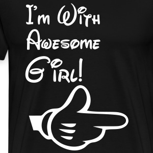 i'm with awesome girl T-Shirts - Men's Premium T-Shirt