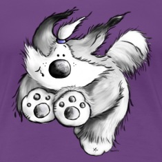Old English Sheepdog - dog - cute cartoon- T-Shirt