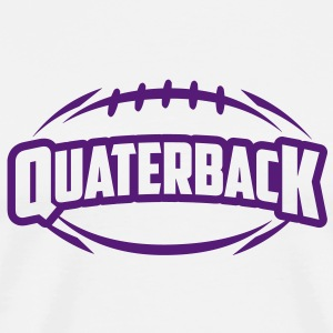 AMERICAN FOOTBALL quaterback_4light_1c T-Shirts - Men's Premium T-Shirt