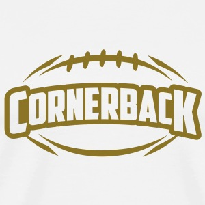 AMERICAN FOOTBALL cornerback_4light_1c T-Shirts - Men's Premium T-Shirt
