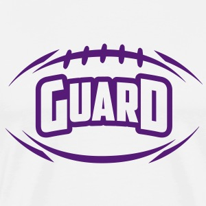 AMERICAN FOOTBALL guard_4light_1c T-Shirts - Men's Premium T-Shirt