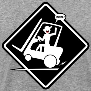 Forklift Placard Heavy-T - Men's Premium T-Shirt
