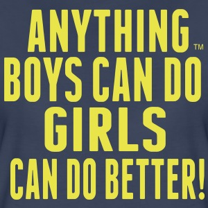 ANYTHING BOYS CAN DO GIRLS CAN DO  Women's T-Shirts - Women's Premium T-Shirt