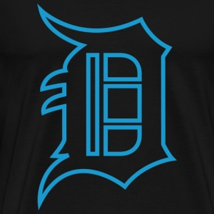 Detroit D Blue - Men's Premium T-Shirt