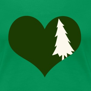 I heart trees, nature, the outdoors and everything - Women's Premium T-Shirt