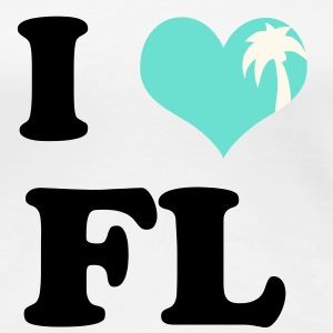 I Heart Florida (palm tree heart) - Women's Premium T-Shirt
