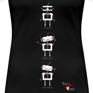 Three Wise Robots (Ver. Ver) - Women's Premium T-Shirt
