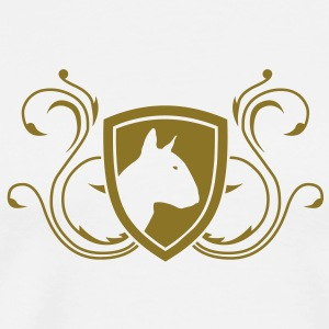 Bull Terrier Coat of Arms 1c T-Shirts - Men's Premium T-Shirt
