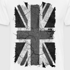 Grunge Monochrome Union Jack UK Flag T-Shirt - Men's Premium T-Shirt