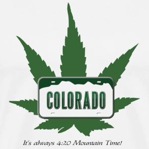 Colorado:  It's always 4:20 Mountain Time! T-Shirts - Men's Premium T-Shirt