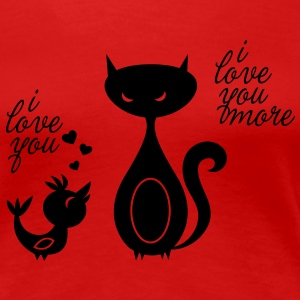 Lovebird ... love to celebrate romantic valentine's day like a boss Women's T-Shirts - Women's Premium T-Shirt