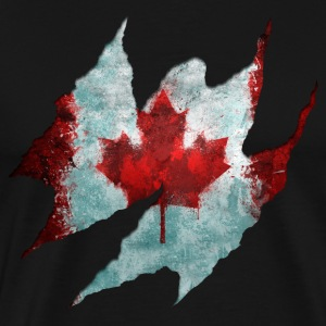 Canadian Flag Tear - Men's Premium T-Shirt