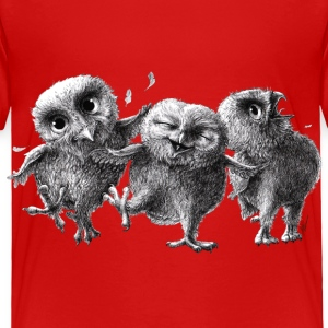 three crazy happy owls - Toddler Premium T-Shirt