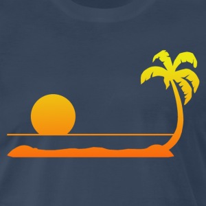 Tropical Sunset T-Shirts - Men's Premium T-Shirt