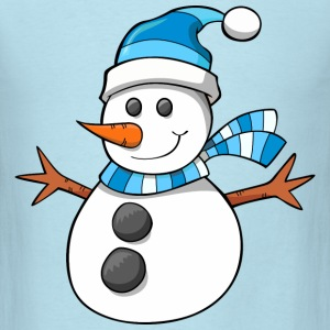 snowman, christmas, new year - Men's T-Shirt