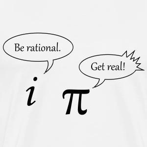 Men's funny Be rational. Get real! T-Shirt - Men's Premium T-Shirt
