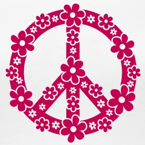 PEACE SYMBOL - peace sign, c, symbol of freedom, flower power, hippie, 68er movement, Woodstock Kids' Shirts - Women's Premium T-Shirt