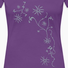 Climbing Plant with Flowers Women's T-Shirts