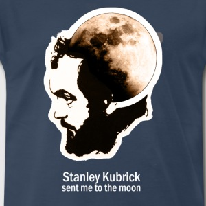 Kubrick Sent Me To The Moon - Men's Premium T-Shirt