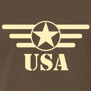 USA Army Star & Bars Men's Shirt - Men's Premium T-Shirt
