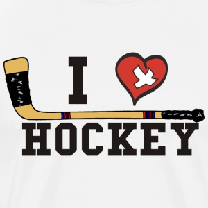 I Love Hockey T-Shirt - Men's Premium T-Shirt