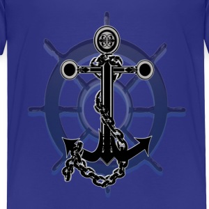 Anchor and Ship Wheel - Toddler Premium T-Shirt