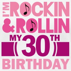 30th Birthday (Rock and Roll) Womens T Shirt | Adu