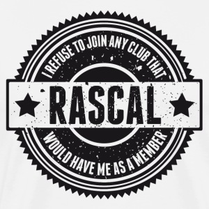 Vintage RASCAL quotes - Not in that club T-Shirts - Men's Premium T-Shirt