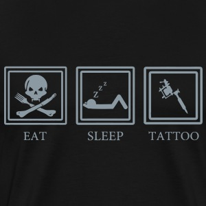 Eat Sleep Tattoo T-Shirts - Men's Premium T-Shirt