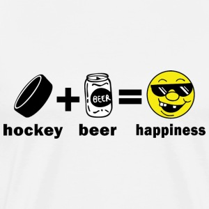 Hockey + Beer = Happiness T-Shirt - Men's Premium T-Shirt