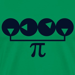 Pi_number_graphic_redux_2c T-Shirts - Men's Premium T-Shirt
