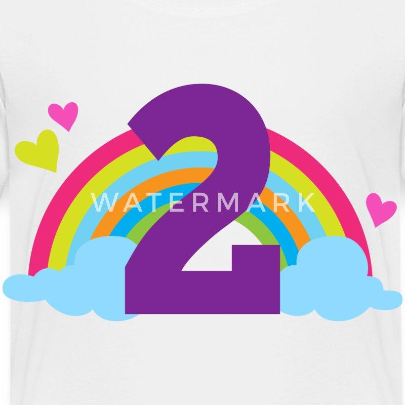 2nd Birthday Rainbow T-Shirt | Spreadshirt