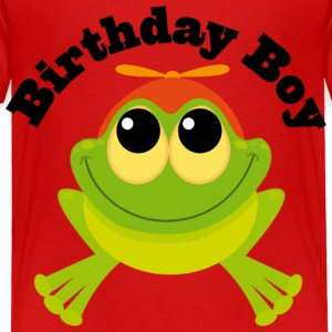 Birthday Boy Frog Toddler T Shirt | Birthday Shirt - Toddler Premium T-Shirt