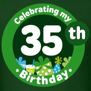35th Birthday Celebration T-shirt | Birthday Shirt - Men's T-Shirt