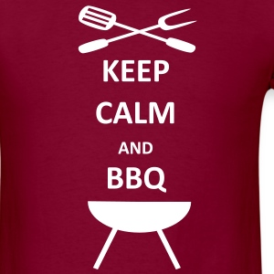 BBQ Barbecue Keep Calm T-Shirt - Men's T-Shirt