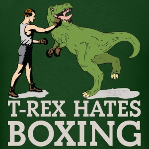 T-Rex Hates Boxing - Men's T-Shirt